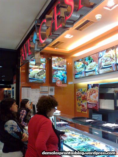 O restaurante Ave Caesar, onde jantei...