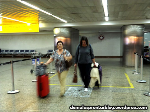 Desembarcando no Aeroporto de Guarulhos.